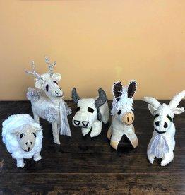 Abrazo Folk Art Animals - neutral