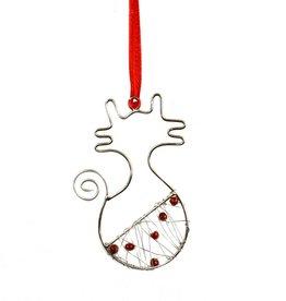 Mira Fair Trade Beaded Cat Ornament