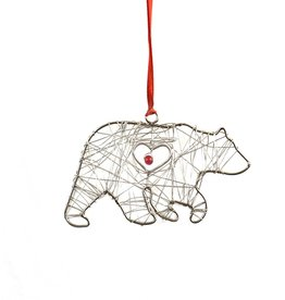 Mira Fair Trade Wrapped Wire Bear Ornament