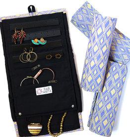 Fair Anita Wayfarer Jewelry Roll Travel Case - Diamonds