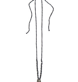 Fair Anita Grateful Stamped Onyx Necklace