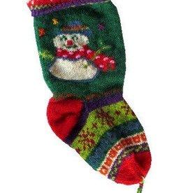 Ganesh Himal Snowman Design Christmas Stocking
