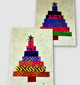 Ganesh Himal Applique Christmas Tree with Star