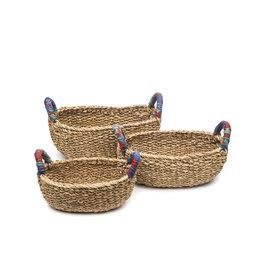 Matr Boomie Sari Handle Table Basket - Large