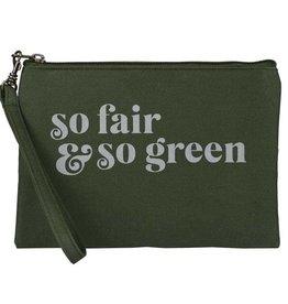 Malia Designs Fair & Green Wristlet Pouch