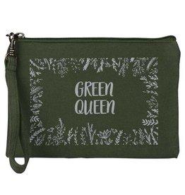 Malia Designs Green Queen Wristlet Pouch