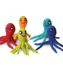 Dharma Dog Karma Cat Octopus Wool Cat Toy - Pack of 2