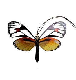 Tulia Artisans Glass Wing Butterfly Ornament
