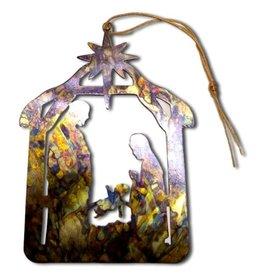 Tulia Artisans Nativity Manger Ornament Card