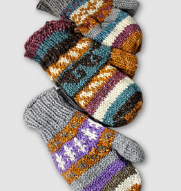 Ganesh Himal Knit Hemp Wool Blend Mittens