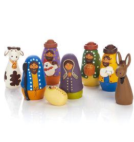 Serrv Amigos Terracotta Nativity