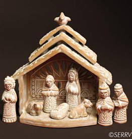 Serrv Dove Terracotta Nativity