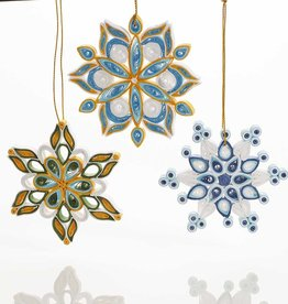 Serrv Quilled Snowflake Ornament