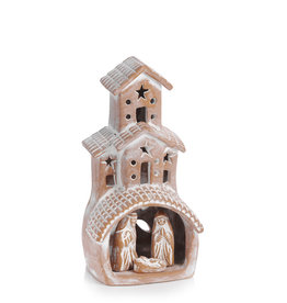 Serrv Terracotta Chimney Nativity - set of 4