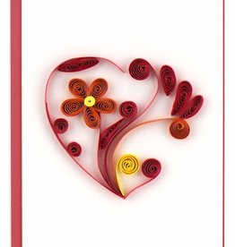 Quilling Card Quilled Heart Gift Enclosure Mini Card
