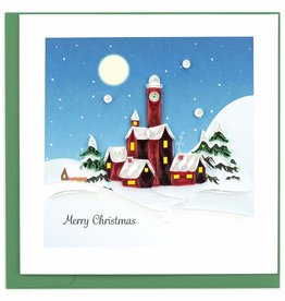 Quilling Card Quilled Santas Village Christmas Card