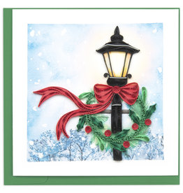 Quilling Card Quilled Holiday Lamp Post Greeting Card