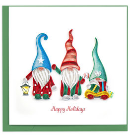 Quilling Card Quilled Holiday Gnomes Greeting Card