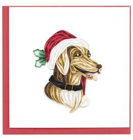 Quilling Card Quilled Holiday Dog Greeting Card