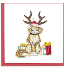 Quilling Card Quilled Holiday Cat Greeting Card
