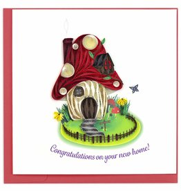 Quilling Card Quilled Toadstool House Greeting Card