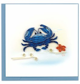 Quilling Card Quilled Blue Crab Greeting Card