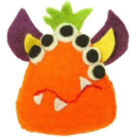 Global Crafts Orange Monster Felt Tooth Fairy Pillow