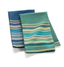 Serrv Garden Stripe Towel - Blue