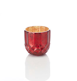 Serrv Ruby Holiday Glass Candle Holder