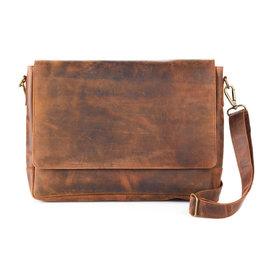Serrv Rustic Leather Messenger Bag