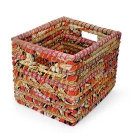 Ten Thousand Villages Sari Storage Basket 12H