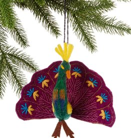 Silk Road Bazaar Peacock Ornament - Assorted Colors