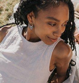 Matr Boomie Kalapriya Earrings - Stripe Chevron