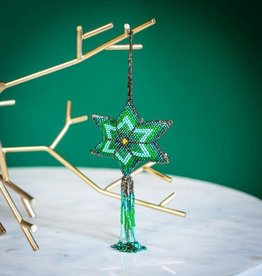 Lucia's Imports Multi Star Beaded Ornament