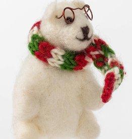Ten Thousand Villages Polar Bear Ornament