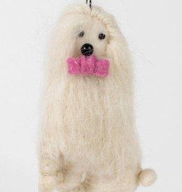 Ten Thousand Villages Yeti Dog Ornament