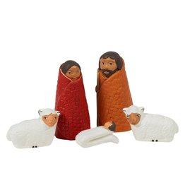 Ten Thousand Villages Cozy Sheep Nativity