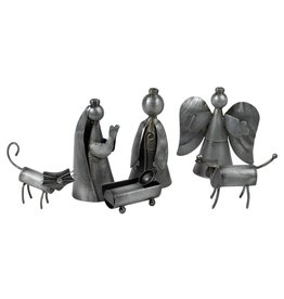 Ten Thousand Villages Funky Cat And Dog Nativity