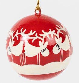 Ten Thousand Villages Dancing Reindeer Ornament