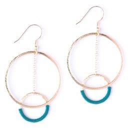 Mata Traders Thread And Hoop Emerald Earrings