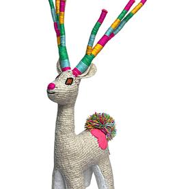 Nativa Holiday Wool Deer   White