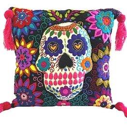Nativa Wool Skull Pillow