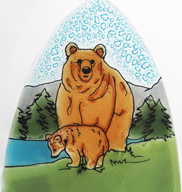 Pampeana Brown Bear with Cub Nightlight
