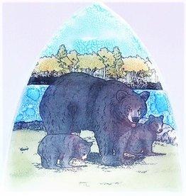 Pampeana Black Bear with Cubs Nightlight