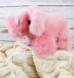 Blossom Inspirations Elephant Alpaca Fur Toy - Pink