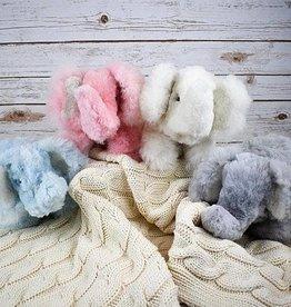Blossom Inspirations Elephant Alpaca Fur Toy - Blue