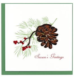 Quilling Card Quilled Holiday Pinecone Greeting Card