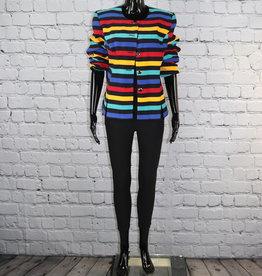 Leslie Fay: 1980's Colorful Vintage Blazer for Gals