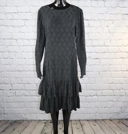 Liz Claiborne: Black Long Sleeve Silk Dress