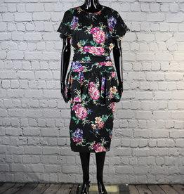 John Roberts: 1980's Vintage Floral Dress